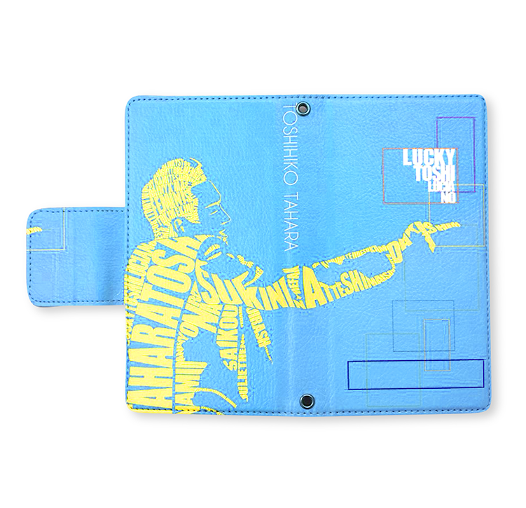 手帳型スマートフォンケース(ブルー)